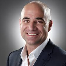 Photo of Andre Agassi smiling. Headshot