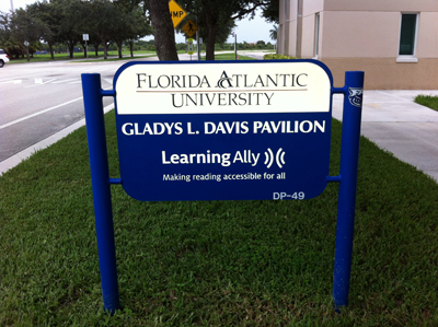 FAU Learning Ally signage