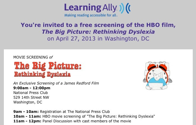 Rethinking Dyslexia at the National Press Club