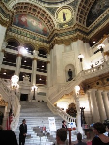 Dyslexia Awareness Day at the Pennsylvania state capitol.