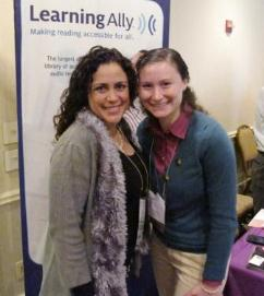 AET President Jeanette Rivera, left, with Kara Scanlon, dyslexic graduate student who is studying to become an educational therapist