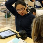 Sovereign Avenue School student using Learning Ally audiobooks.