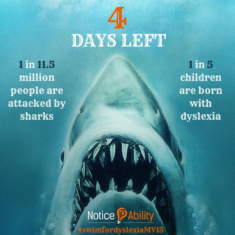 Video Blog: Swimming with the Sharks for Dyslexia Awareness