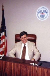 Judge Hafer at his desk