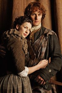 Jamie and Claire from the Series