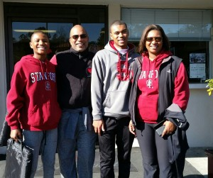 Family at the Rose Bowl