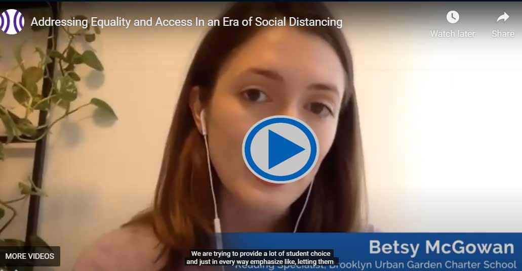Addressing Equity ad Access in an Era of Social Distancing