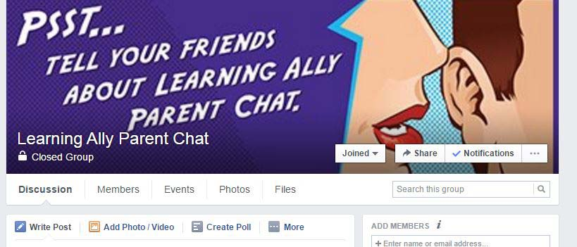facebook parent chat banner