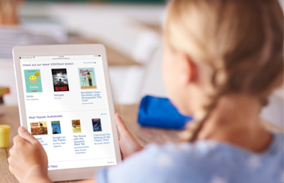 girl-tablet-Learning-Ally-app-featuring-books