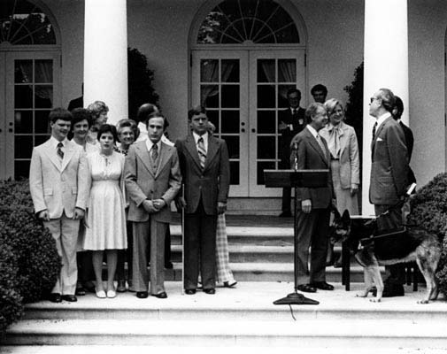 president carter meets awards winners
