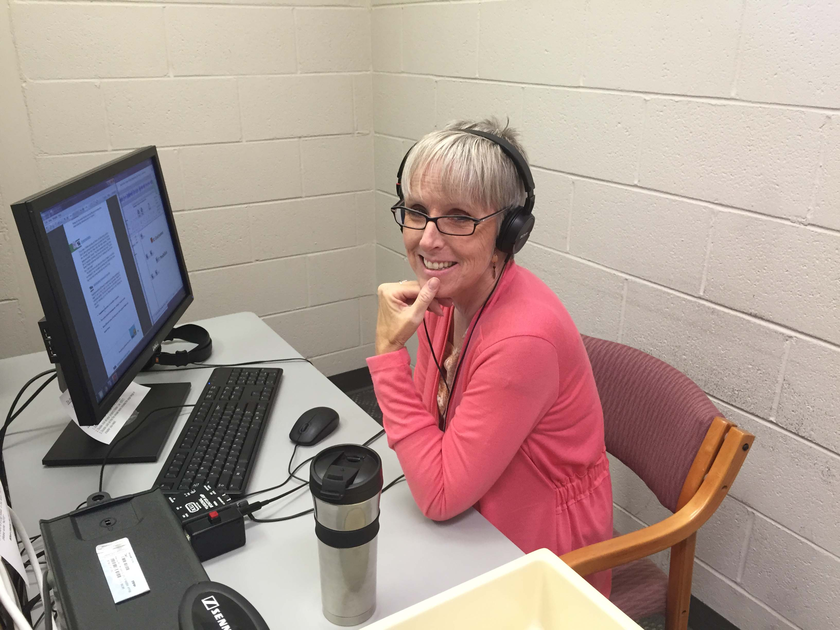 Volunteer audio book reader for blind